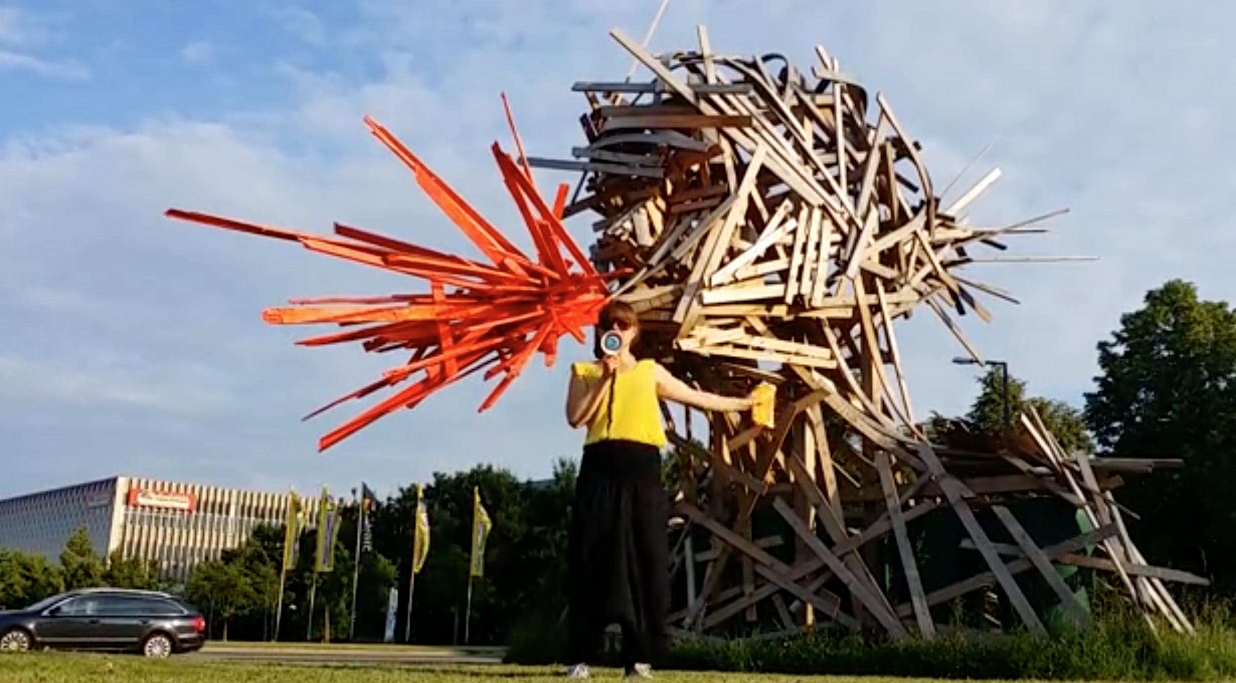 Besprechung der Skulptur Amalia